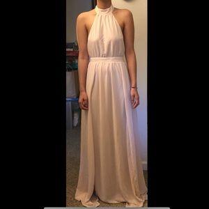 cced47f38cf5c Tobi Dresses - Tobi Tara Light Rose Halter Maxi Dress
